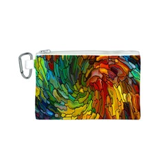Stained Glass Patterns Colorful Canvas Cosmetic Bag (s)