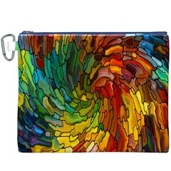 Stained Glass Patterns Colorful Canvas Cosmetic Bag (xxxl)