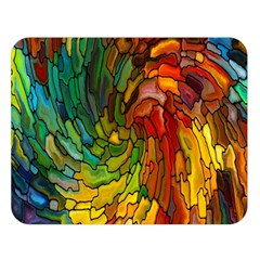 Stained Glass Patterns Colorful Double Sided Flano Blanket (large)