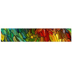 Stained Glass Patterns Colorful Flano Scarf (large)