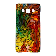 Stained Glass Patterns Colorful Samsung Galaxy A5 Hardshell Case