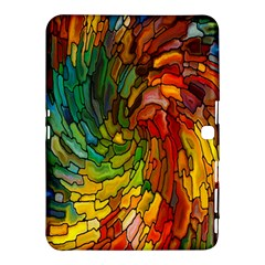 Stained Glass Patterns Colorful Samsung Galaxy Tab 4 (10 1 ) Hardshell Case
