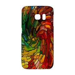 Stained Glass Patterns Colorful Galaxy S6 Edge