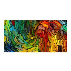 Stained Glass Patterns Colorful Satin Wrap