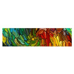 Stained Glass Patterns Colorful Satin Scarf (oblong)