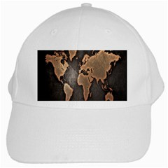 Grunge Map Of Earth White Cap