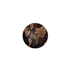 Grunge Map Of Earth 1  Mini Buttons