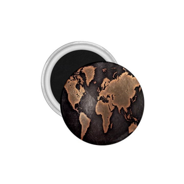 Grunge Map Of Earth 1.75  Magnets
