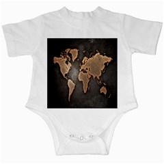 Grunge Map Of Earth Infant Creepers