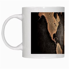 Grunge Map Of Earth White Mugs