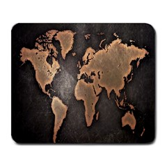 Grunge Map Of Earth Large Mousepads