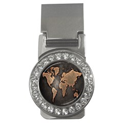 Grunge Map Of Earth Money Clips (CZ)