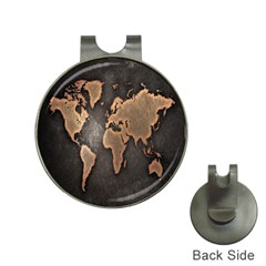 Grunge Map Of Earth Hat Clips With Golf Markers