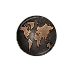 Grunge Map Of Earth Hat Clip Ball Marker (4 pack)