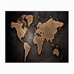 Grunge Map Of Earth Small Glasses Cloth
