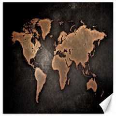 Grunge Map Of Earth Canvas 12  x 12