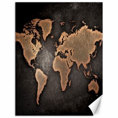 Grunge Map Of Earth Canvas 12  x 16