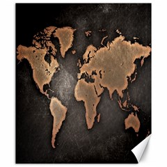 Grunge Map Of Earth Canvas 20  x 24