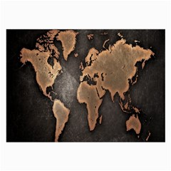 Grunge Map Of Earth Large Glasses Cloth (2 Side)