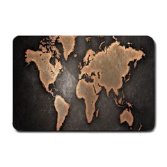 Grunge Map Of Earth Small Doormat