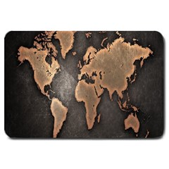 Grunge Map Of Earth Large Doormat
