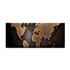 Grunge Map Of Earth Cosmetic Storage Cases