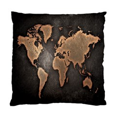 Grunge Map Of Earth Standard Cushion Case (two Sides)