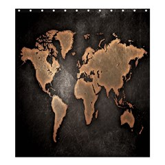 Grunge Map Of Earth Shower Curtain 66  X 72  (large)