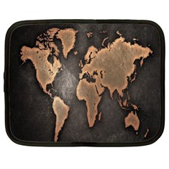 Grunge Map Of Earth Netbook Case (xxl)