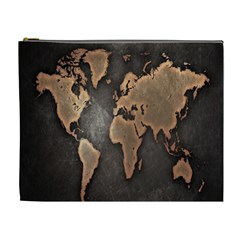 Grunge Map Of Earth Cosmetic Bag (xl)