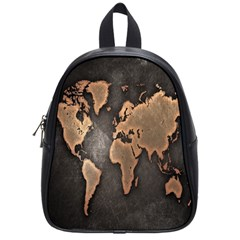 Grunge Map Of Earth School Bags (small)
