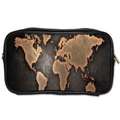 Grunge Map Of Earth Toiletries Bags 2 Side