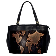 Grunge Map Of Earth Office Handbags