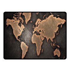Grunge Map Of Earth Fleece Blanket (small)
