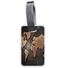 Grunge Map Of Earth Luggage Tags (two Sides)