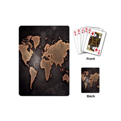 Grunge Map Of Earth Playing Cards (Mini)