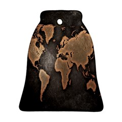 Grunge Map Of Earth Bell Ornament (Two Sides)