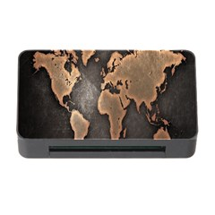 Grunge Map Of Earth Memory Card Reader With Cf
