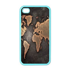 Grunge Map Of Earth Apple Iphone 4 Case (color)