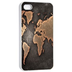 Grunge Map Of Earth Apple Iphone 4/4s Seamless Case (white)