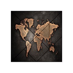 Grunge Map Of Earth Acrylic Tangram Puzzle (4  X 4 )