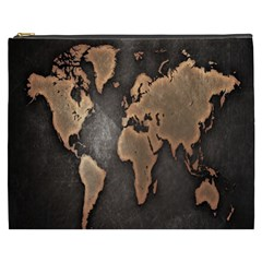 Grunge Map Of Earth Cosmetic Bag (xxxl)
