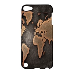 Grunge Map Of Earth Apple Ipod Touch 5 Hardshell Case