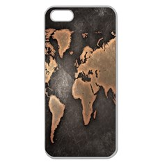 Grunge Map Of Earth Apple Seamless iPhone 5 Case (Clear)