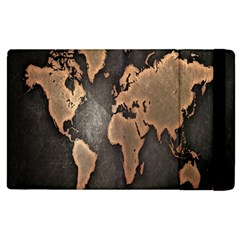 Grunge Map Of Earth Apple Ipad 2 Flip Case