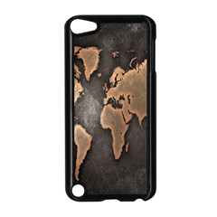 Grunge Map Of Earth Apple Ipod Touch 5 Case (black)