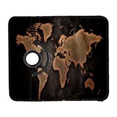 Grunge Map Of Earth Galaxy S3 (flip/folio)