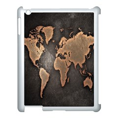 Grunge Map Of Earth Apple Ipad 3/4 Case (white)