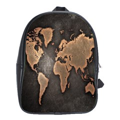 Grunge Map Of Earth School Bags (xl)