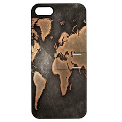Grunge Map Of Earth Apple Iphone 5 Hardshell Case With Stand